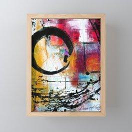 Enso Abstraction No. mm15 Framed Mini Art Print