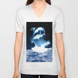 Crystal Dolphin Unisex V-Neck