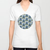 doors V-neck T-shirts featuring Closed Doors by Phil Perkins