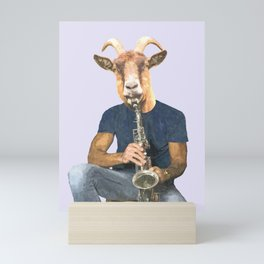 Goat Musician Mini Art Print