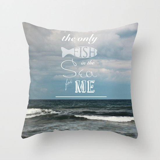 In the Sea Throw Pillow