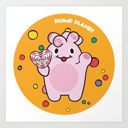 Plump Planet Candy Art Print