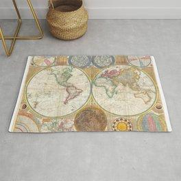 1794 Vintage World Map Samuel Dunn Rug