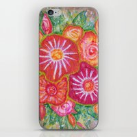 Orange Fantasy Flowers iPhone & iPod Skin