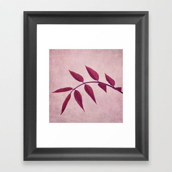 carmine Framed Art Print