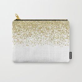 Sparkling gold glitter confetti on simple white background - Pattern Carry-All Pouch
