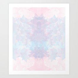 Baesic Pastel Stars Geo Art Print