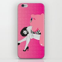 kirby iPhone & iPod Skins featuring Geekette sur Kirby by Lily's Factory