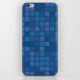 november blue geometric pattern iPhone Skin