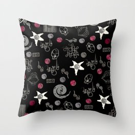 doodle art Throw Pillow