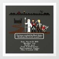 aragorn Art Prints featuring Aragorn Trail by Drew Brockington