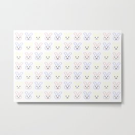 Colorful Rabbits Metal Print