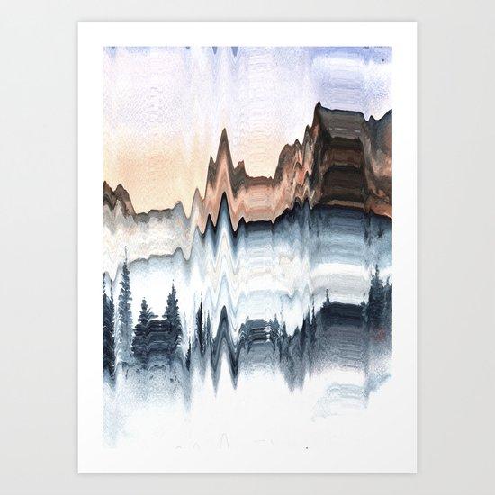 A Mountain in Winter Art Print
