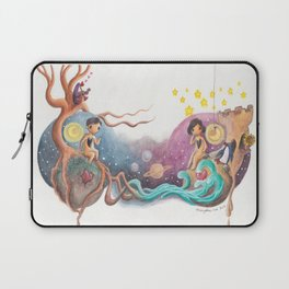 Boy and Girl Love At First Sight Across the Galaxy Laptop Sleeve