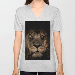 The black lion Unisex V-Neck