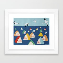 Shark Park Framed Art Print