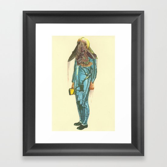 Here a Bone, There a rag  Framed Art Print