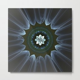 Blossom Within in White Metal Print