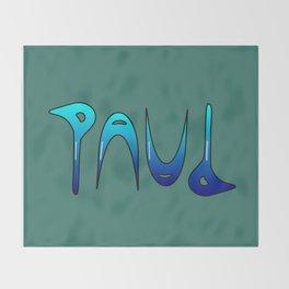 Paul (Ambigram) Namendreher Throw Blanket