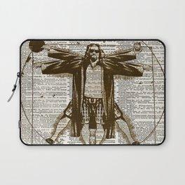 Big Lebowski art - Vitruvian Dude - The Dude art print - Dictionary print art Laptop Sleeve