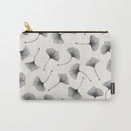 Ginkgo Leaves Cream Carry-All Pouch