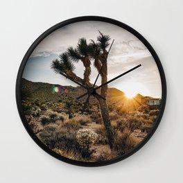 Sunset at Joshua Tree Wall Clock