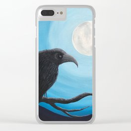 Bluemoon Raven Clear iPhone Case