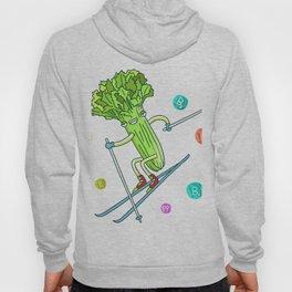 Skiing Celery Hoody