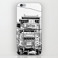 kobe iPhone & iPod Skins featuring Yokohama - China town by parisian samurai studio