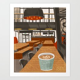 Coffee at The Forks Art Print