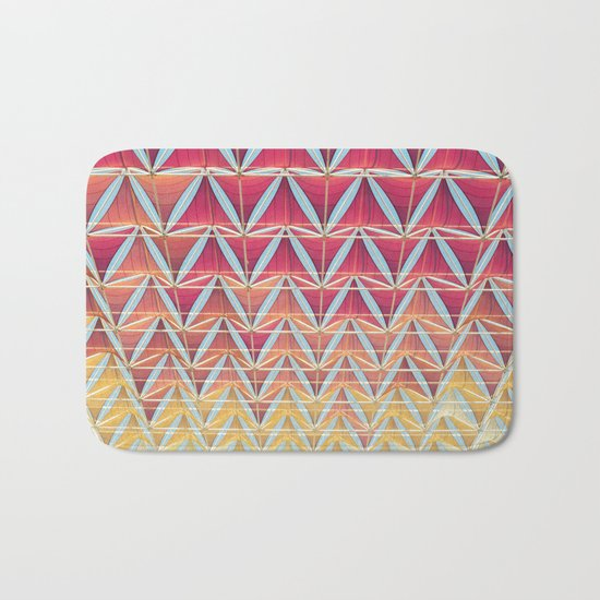 From pink to yellow pattern Bath Mat