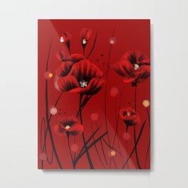 Fiery poppies flowers Metal Print