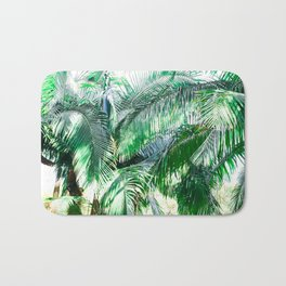 The wild shadow tropical palm tree green bright photography Bath Mat