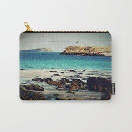 Dinosaur Beach - Retro look fine art canvas print Carry-All Pouch