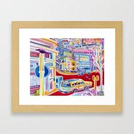 Rainbow City Framed Art Print