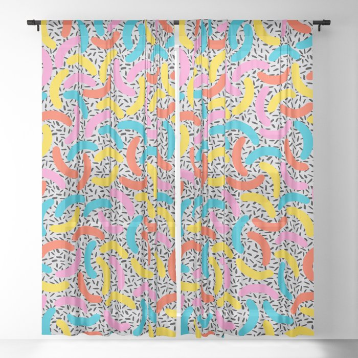 I Love Memphis Patterns Sheer Curtain