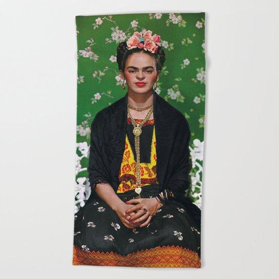 Frida Kahlo Photography I Beach Towel