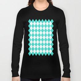 Diamonds (Turquoise/White) Long Sleeve T-shirt
