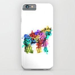 Splash Color Hyena iPhone Case
