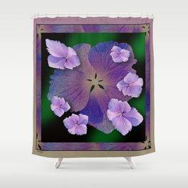 LACECAP HYDRANGEA FLOWER BOUQUET  Shower Curtain