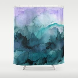 Dream away abstract watercolor Shower Curtain