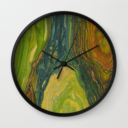 The Excavation of a Luminous Chamber (Enchanted Chemical Abyss) Wall Clock