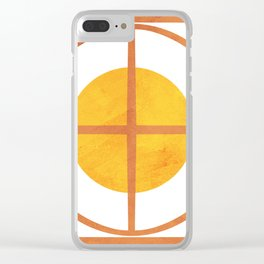 Fall Sunshine Against Grate Minimalistic Clear iPhone Case