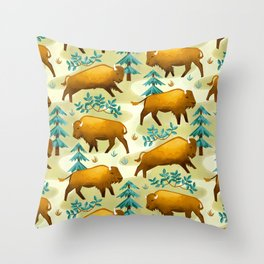 Bison Countryside Throw Pillow