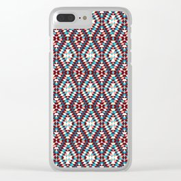 Cool vintag colorful pattern #society6 Clear iPhone Case