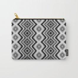 Black White Diamond Crochet Pattern Carry-All Pouch