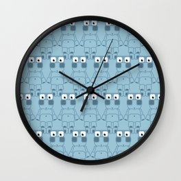 Super cute cartoon blue pig - bring home the bacon with everything for the pig enthusiasts! Wall Clock
