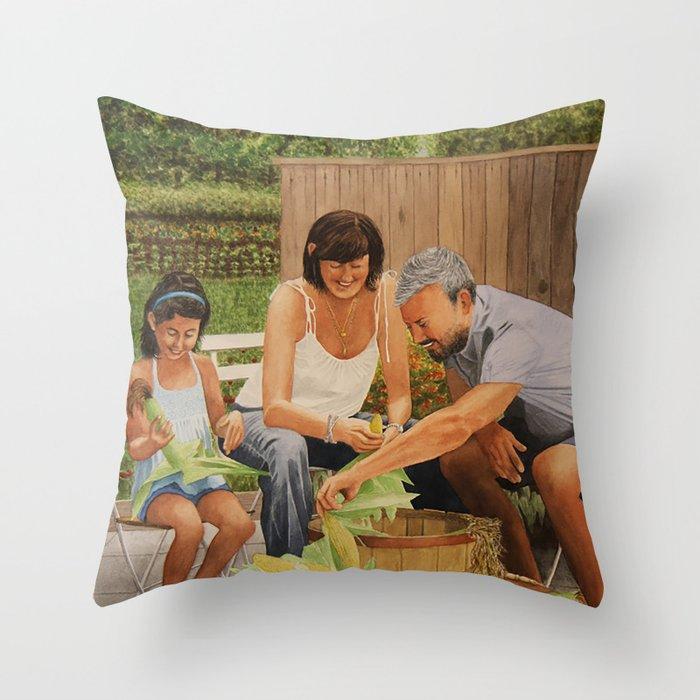 Bodine Road Farm Throw Pillow
