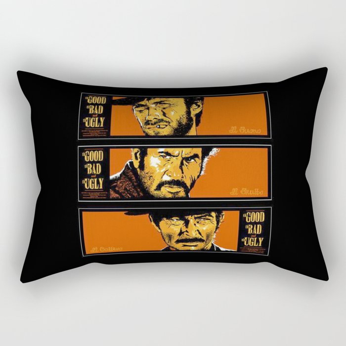 the good ,the bad , and the evil Rectangular Pillow