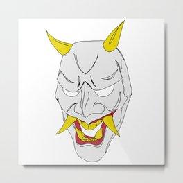 Gray Oni Metal Print